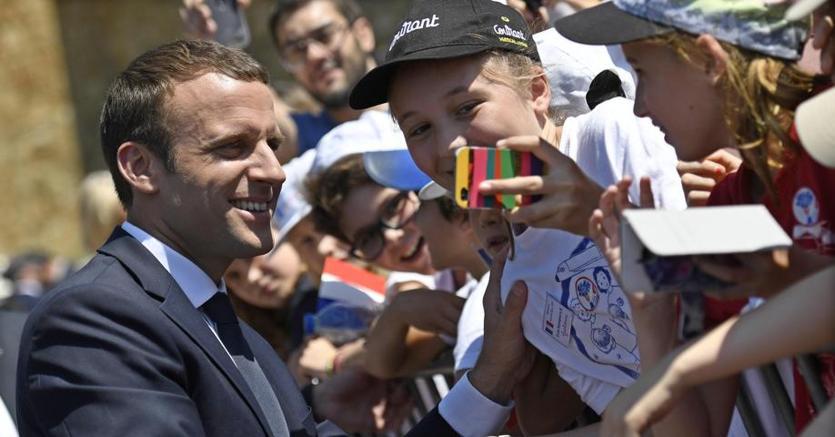 Il presidente Emmanuel Macron